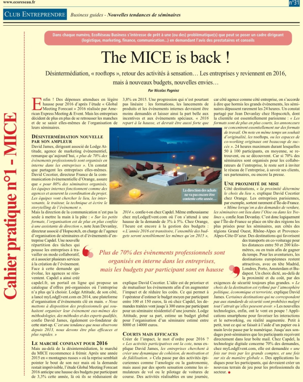 article presse MICE